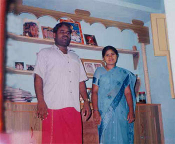 Sre Bhaaskharamaharishi with his consort Revathi in Prayer room